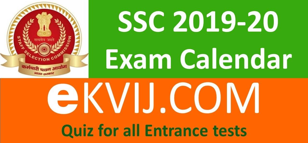 SSC 2019-20 calendar