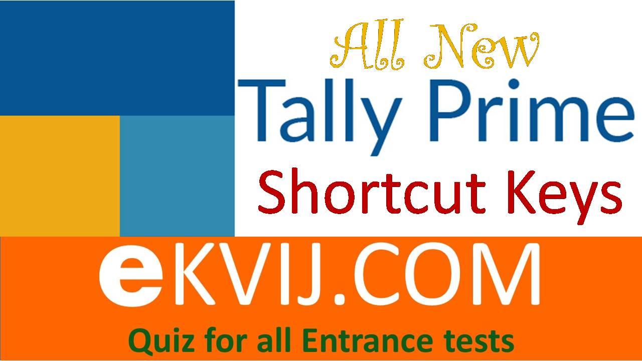 Tally Prime Shortcut Keys